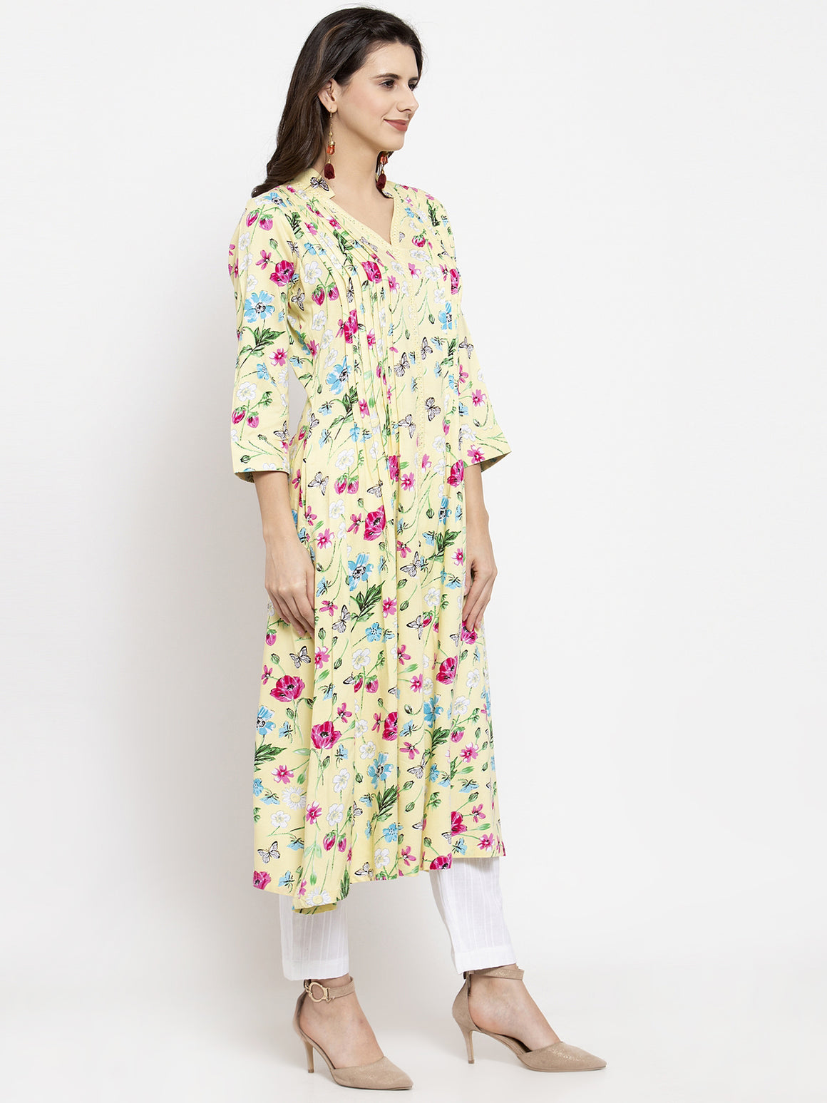Ayaany Women Yellow Casual Kurta