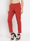 Ayaany Women Red Casual Pant