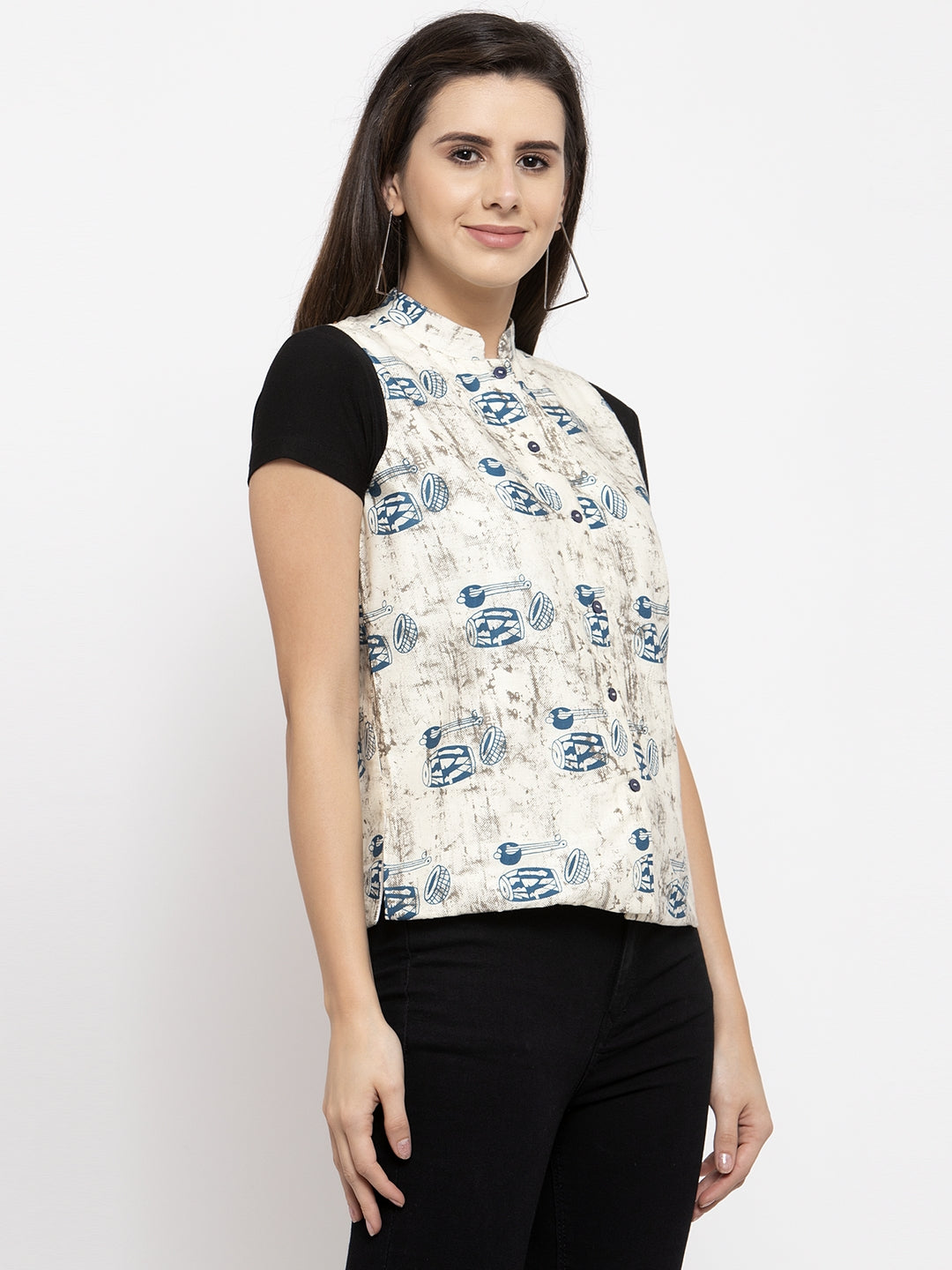 Ayaany Women Off White Casual Shrug