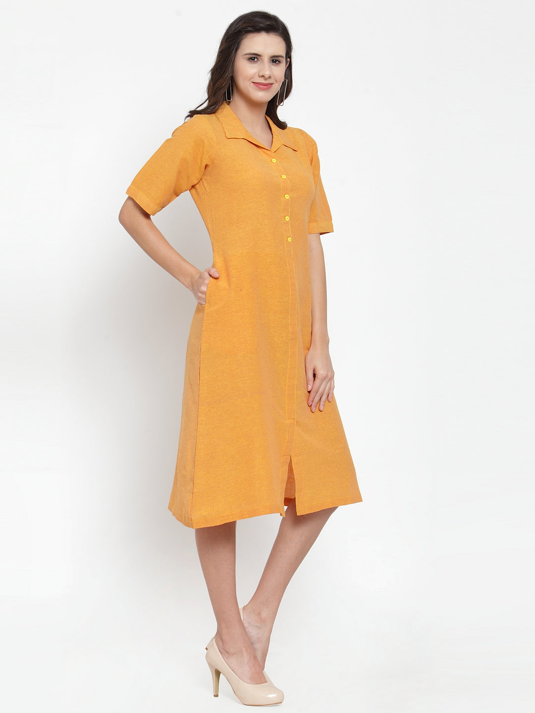 Ayaany Women Yellow Casual Dress
