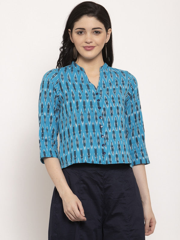 Ayaany Women Blue Crop Top