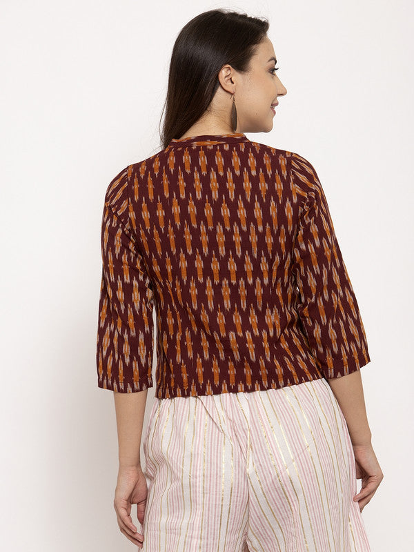 Ayaany Women Brown Crop Top