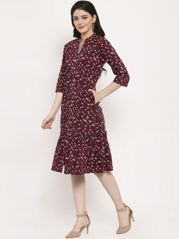 Ayaany Women Red Casual Dress