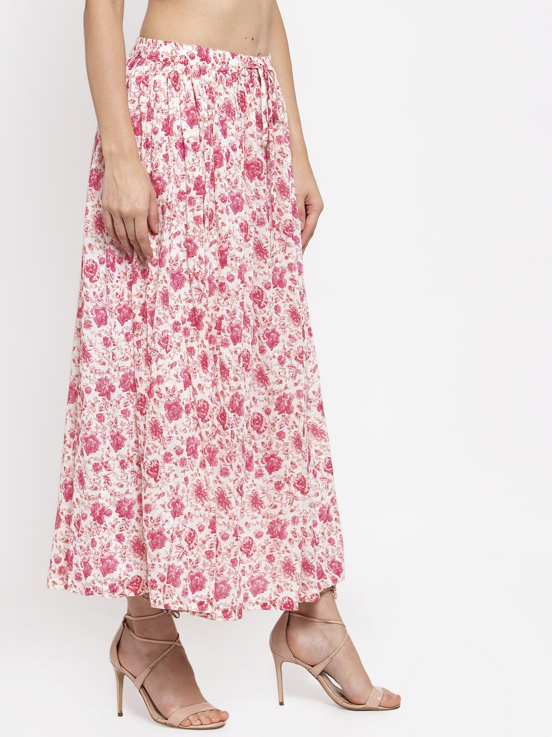 Ayaany Women Pink Smart Maxi Skirt