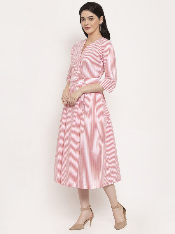 Ayaany Flared Pleated Dress