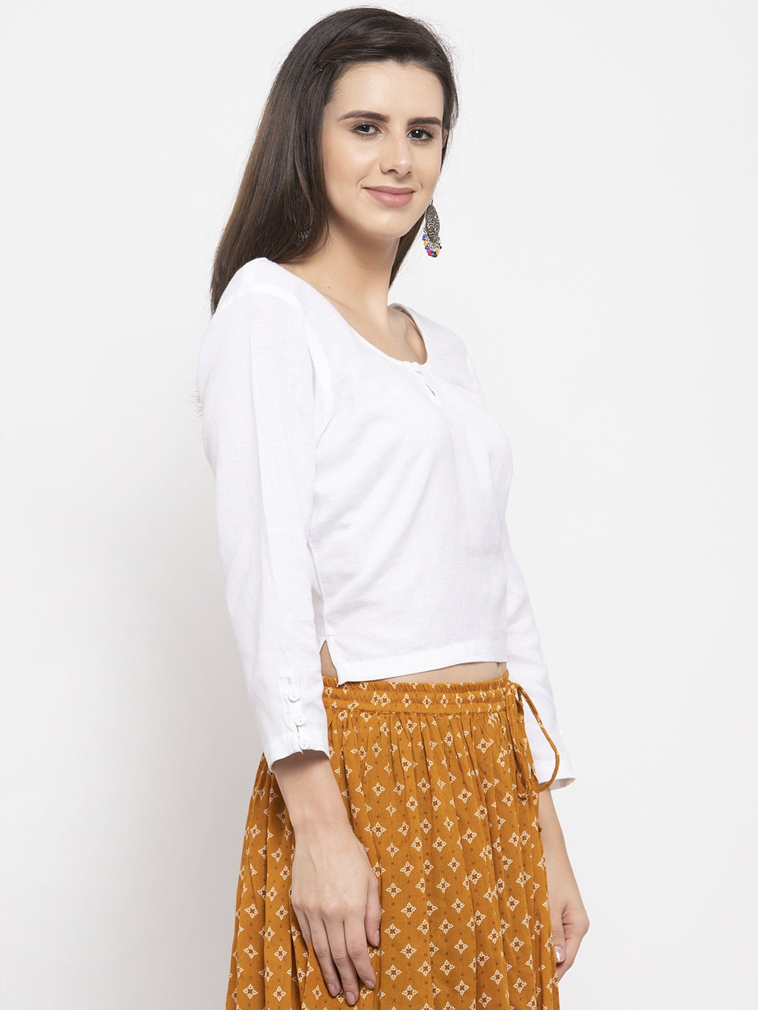 Ayaany Women White Smart Casual Blouse