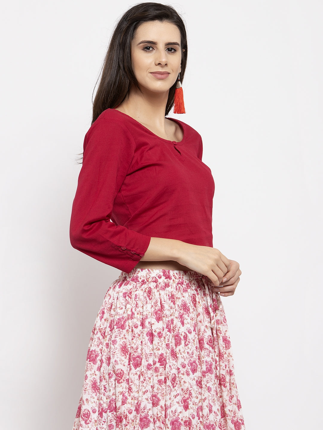 Ayaany Women Red Smart Casual Blouse