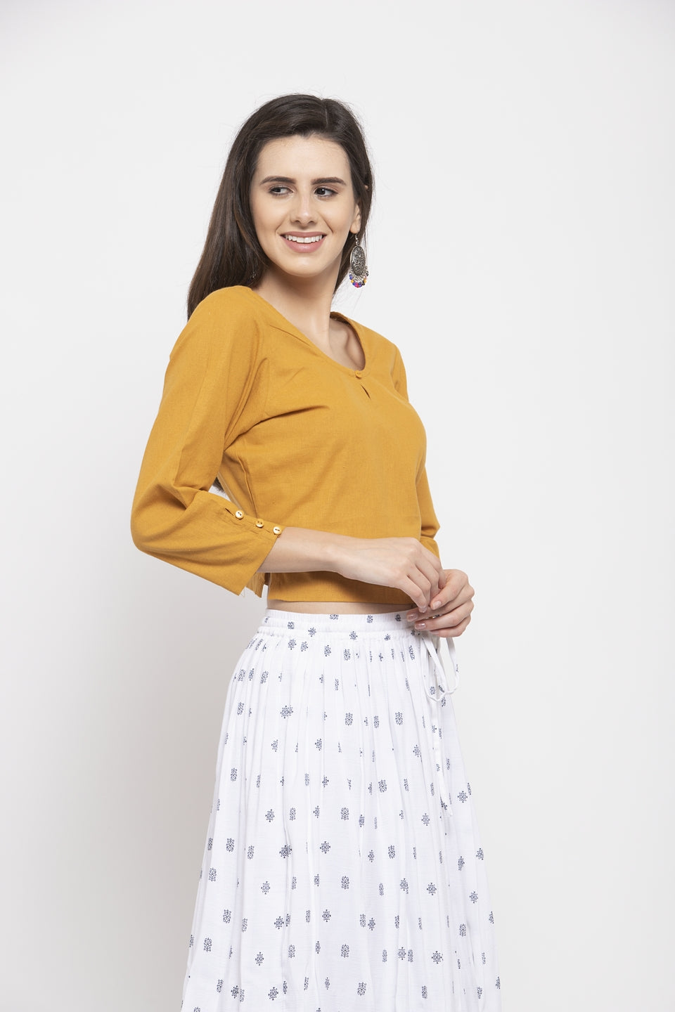 Ayaany Women Mustard Smart Casual Blouse