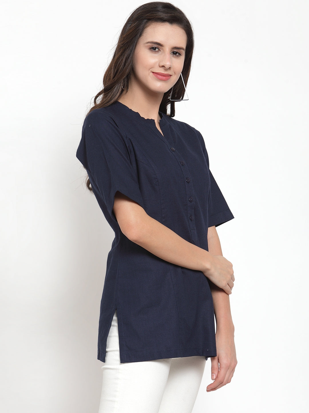 Ayaany Women Blue Casual Top