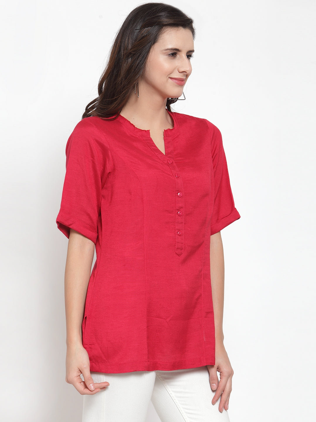 Ayaany Women Red Casual Top