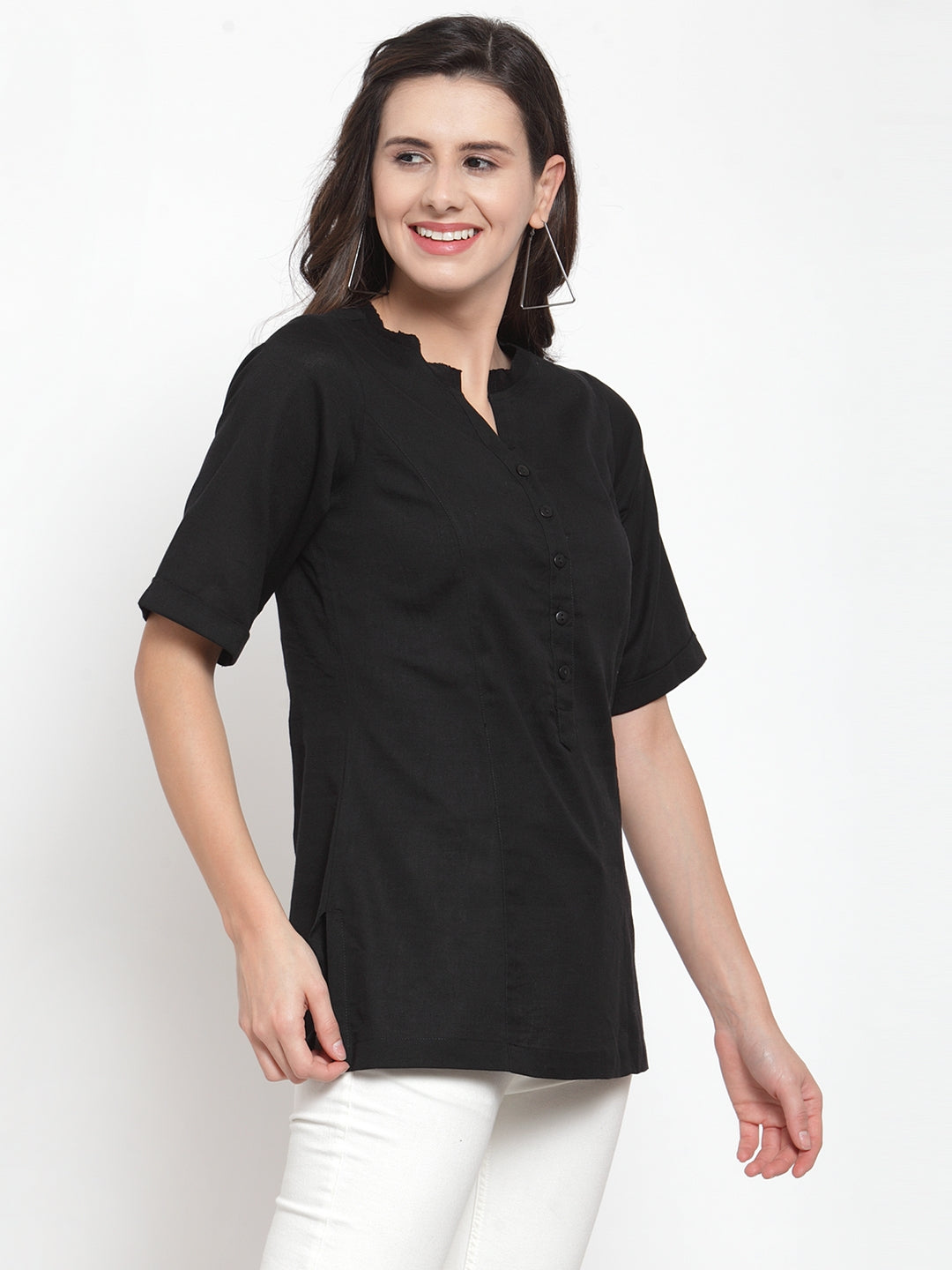 Ayaany Women Black Casual Top