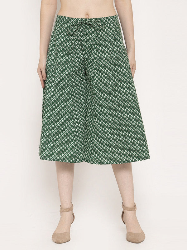 Ayaany Women Green Casual Culotte