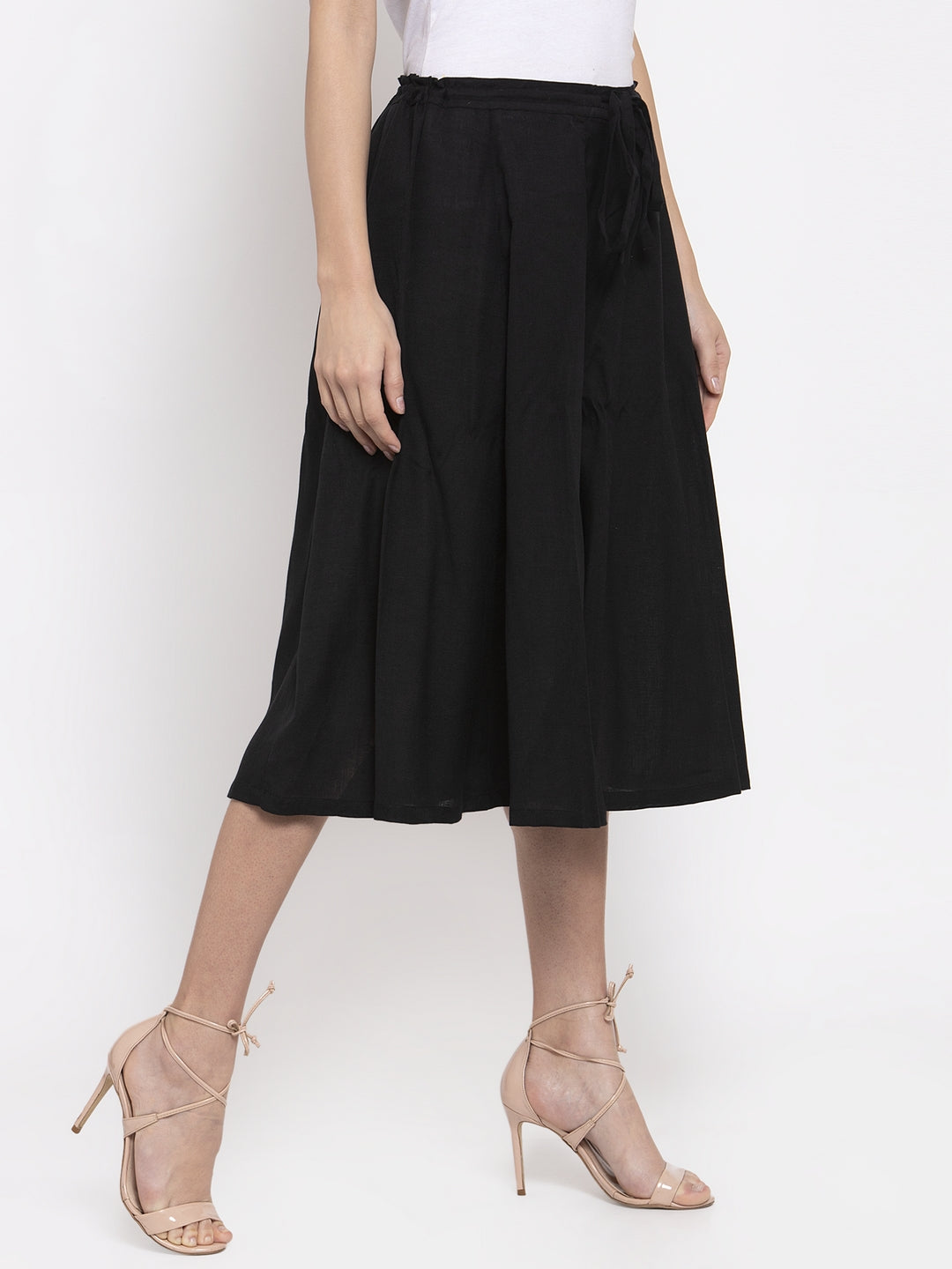 Ayaany Women Black Casual Culotte