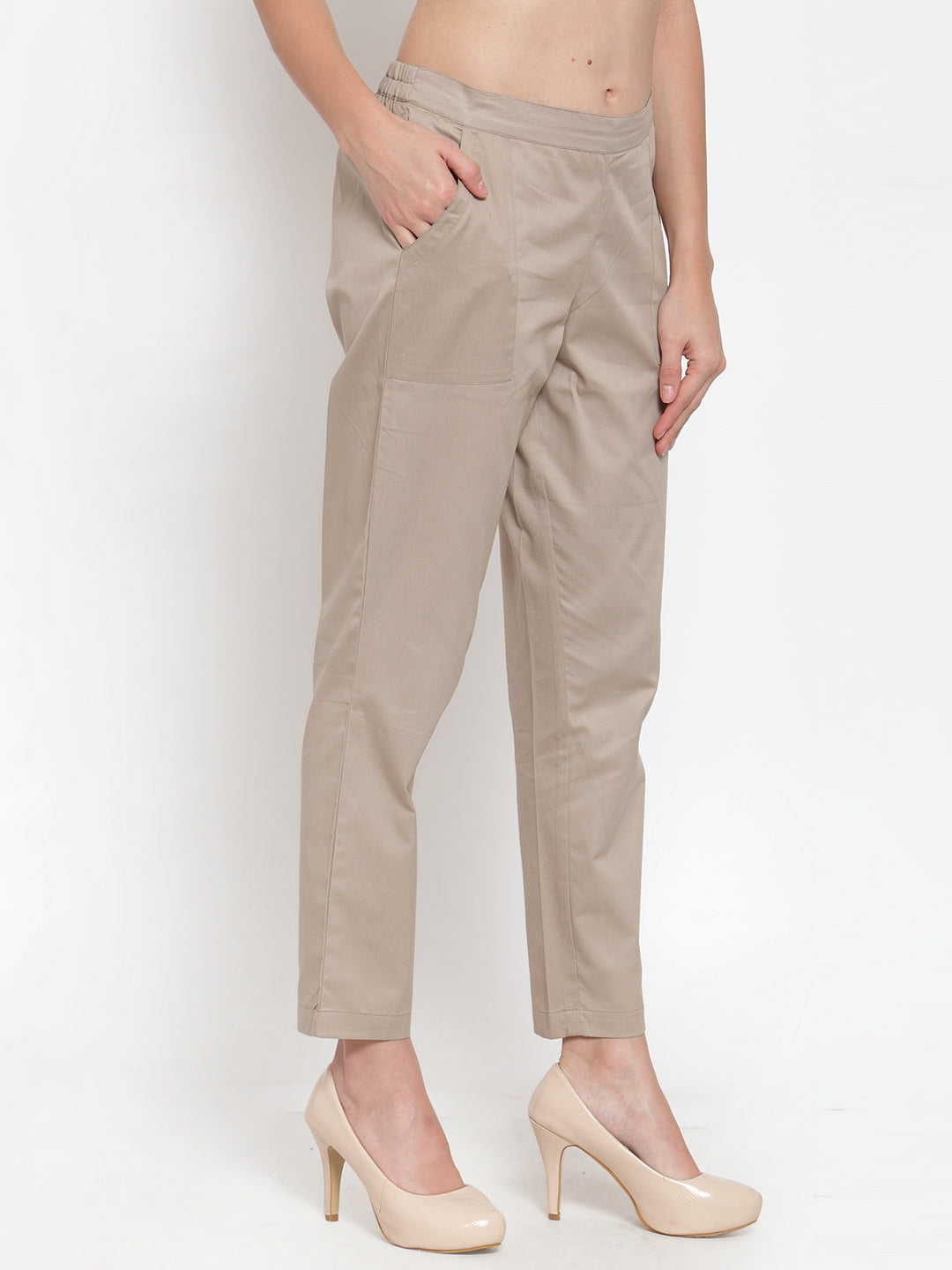 Ayaany Women Beige Smart Casual Pant