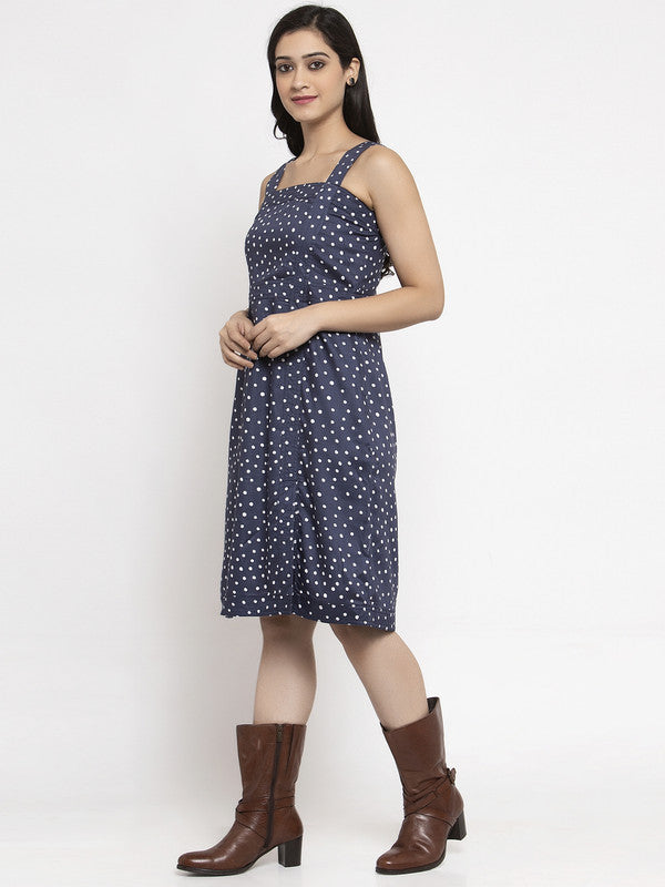 Ayaany Women Blue Casual Summer Dress