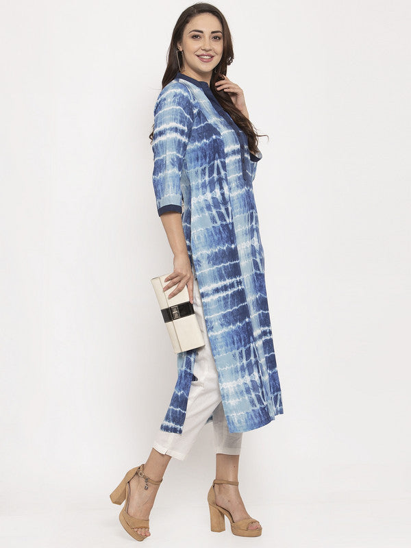Ayaany Women Blue Casual Kurta