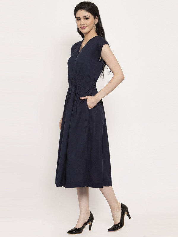 Ayaany Women Blue Smart Casual Dress