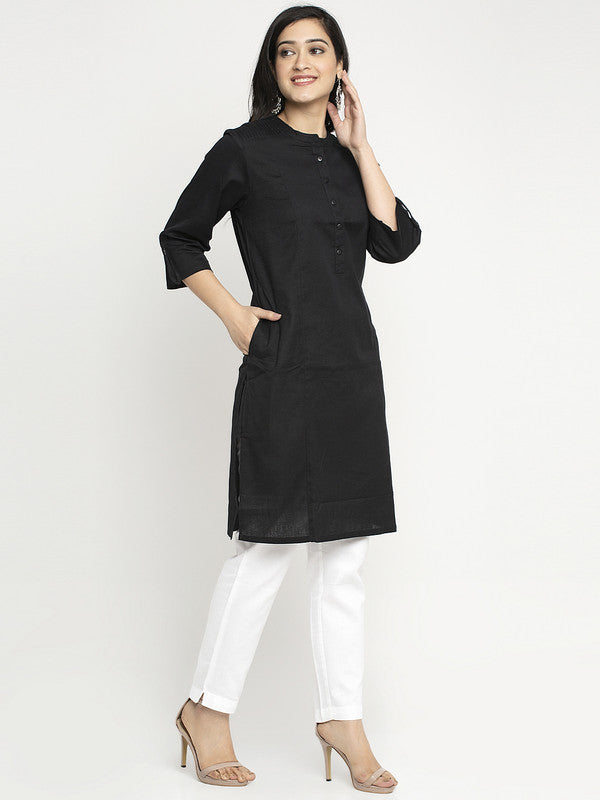 Ayaany Women Black Casual Kurta