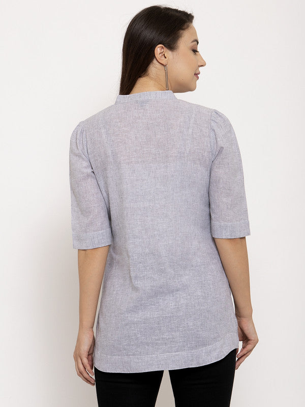 Ayaany Women Grey Casual Top