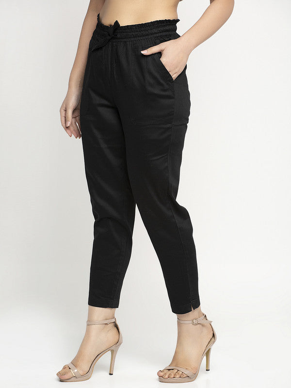 Ayaany Women All Purpose Casual Black Pants with Smart Fit
