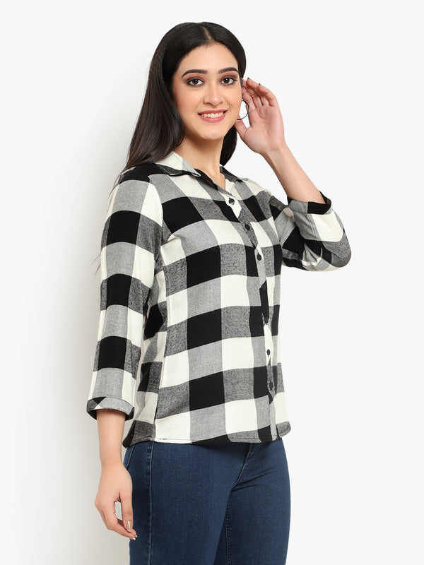 Ayaany Women Black Smart Casual Shirt
