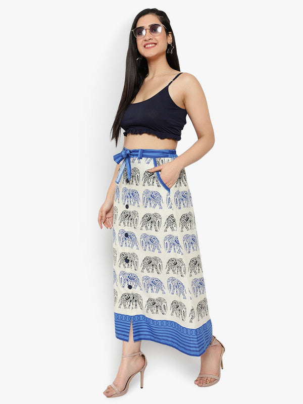 Ayaany Maxi Skirt With Side Pockets