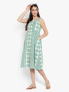 Ayaany Women Green Cotton Casual Dress