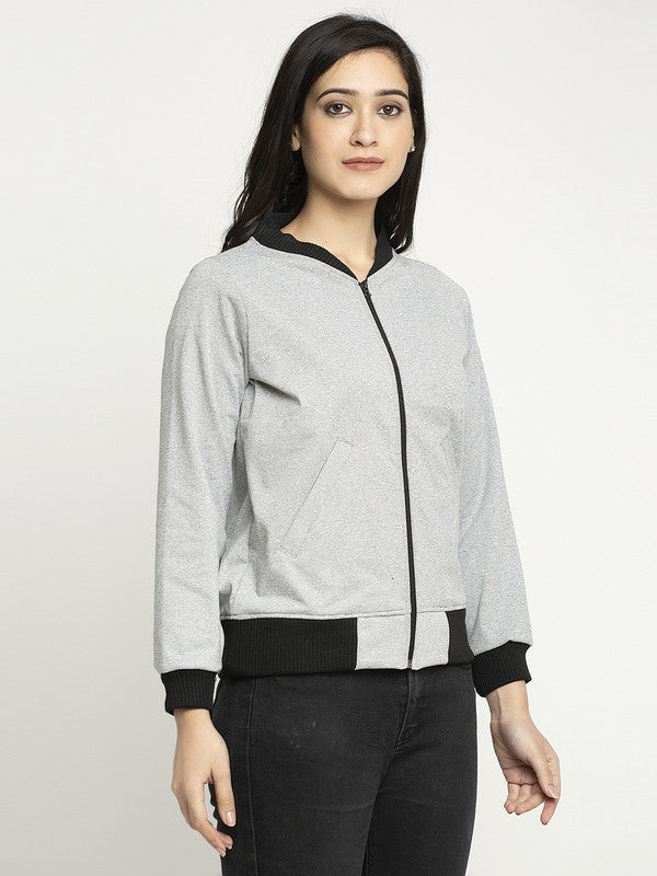 Ayaany Women Grey Comfortable Sweatshirt with Pockets