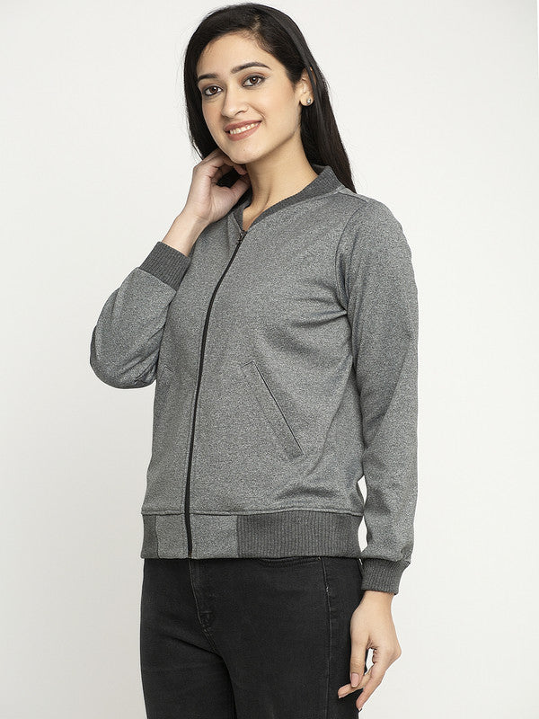 Ayaany Women Charcoal Comfortable Sweatshirt with Pockets