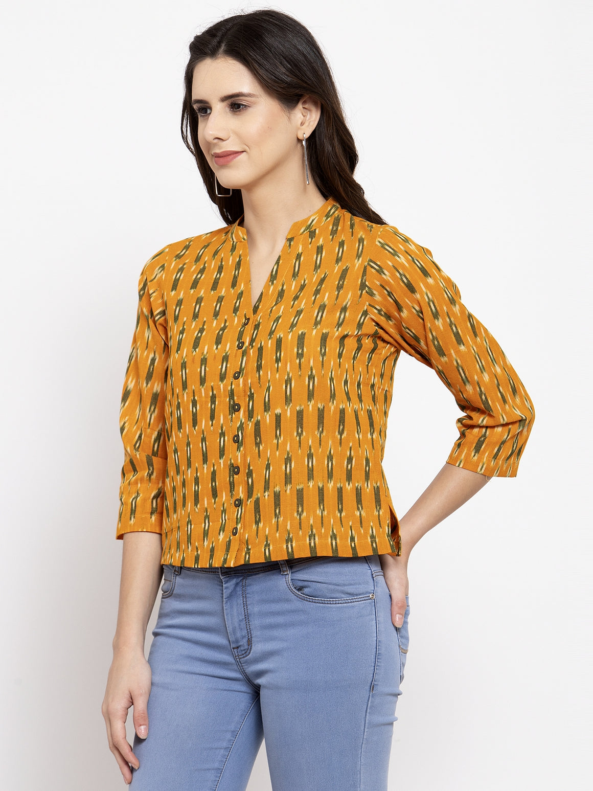 Ayaany Women Mustard Casual Top