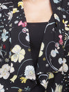 Cotton Black Printed Shrug