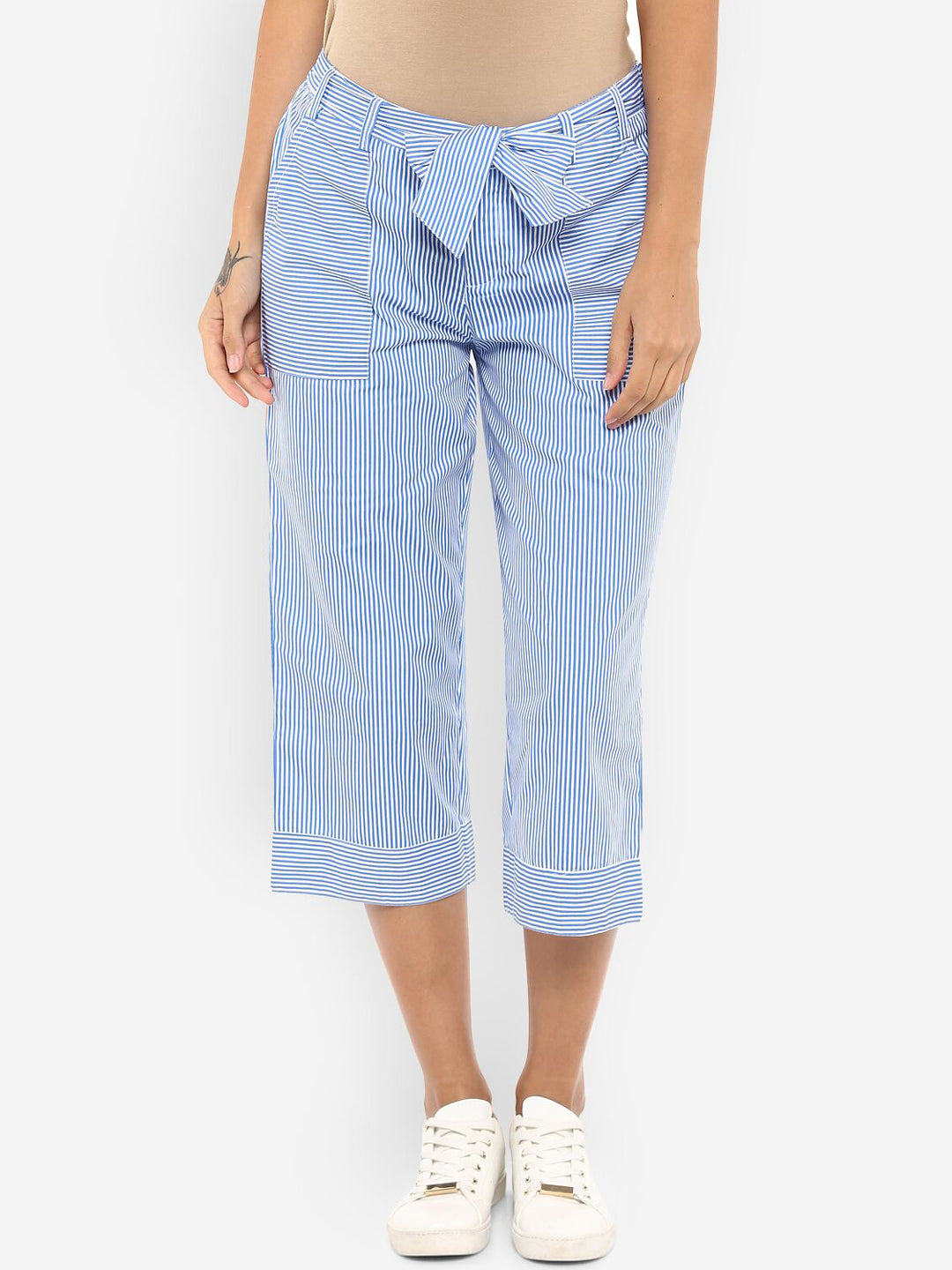 Ayaany Women Blue Casual Capri Pant