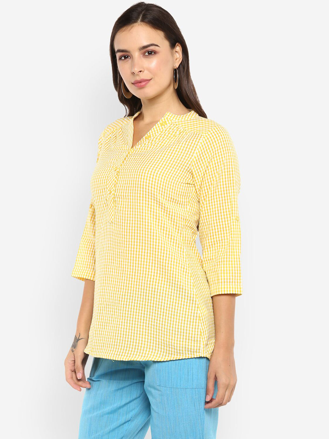 Ayaany Women Yellow Casual Top