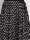 Ayaany Women Navy Blue Casual Skirt