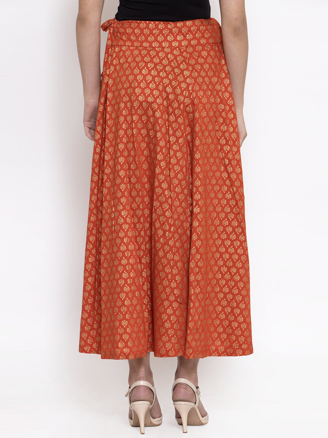 Ayaany Women Orange Casual Skirt
