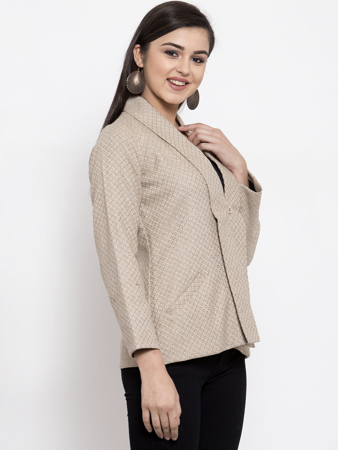 Ayaany Women Beige Casual Coat