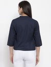 Ayaany Women Blue Casual Shrug