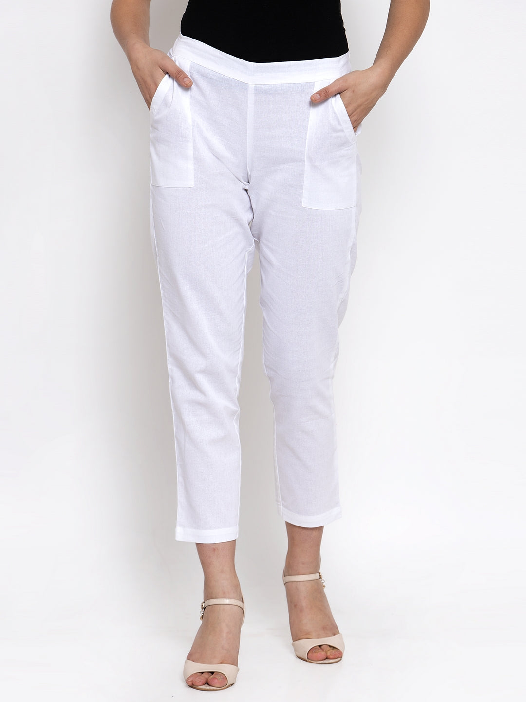 Ayaany Women White Casual Pant