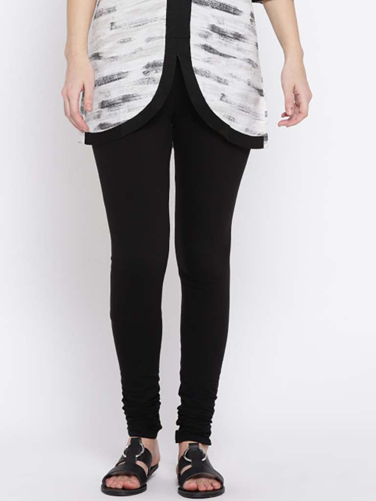 Solid Full Length Legging Black