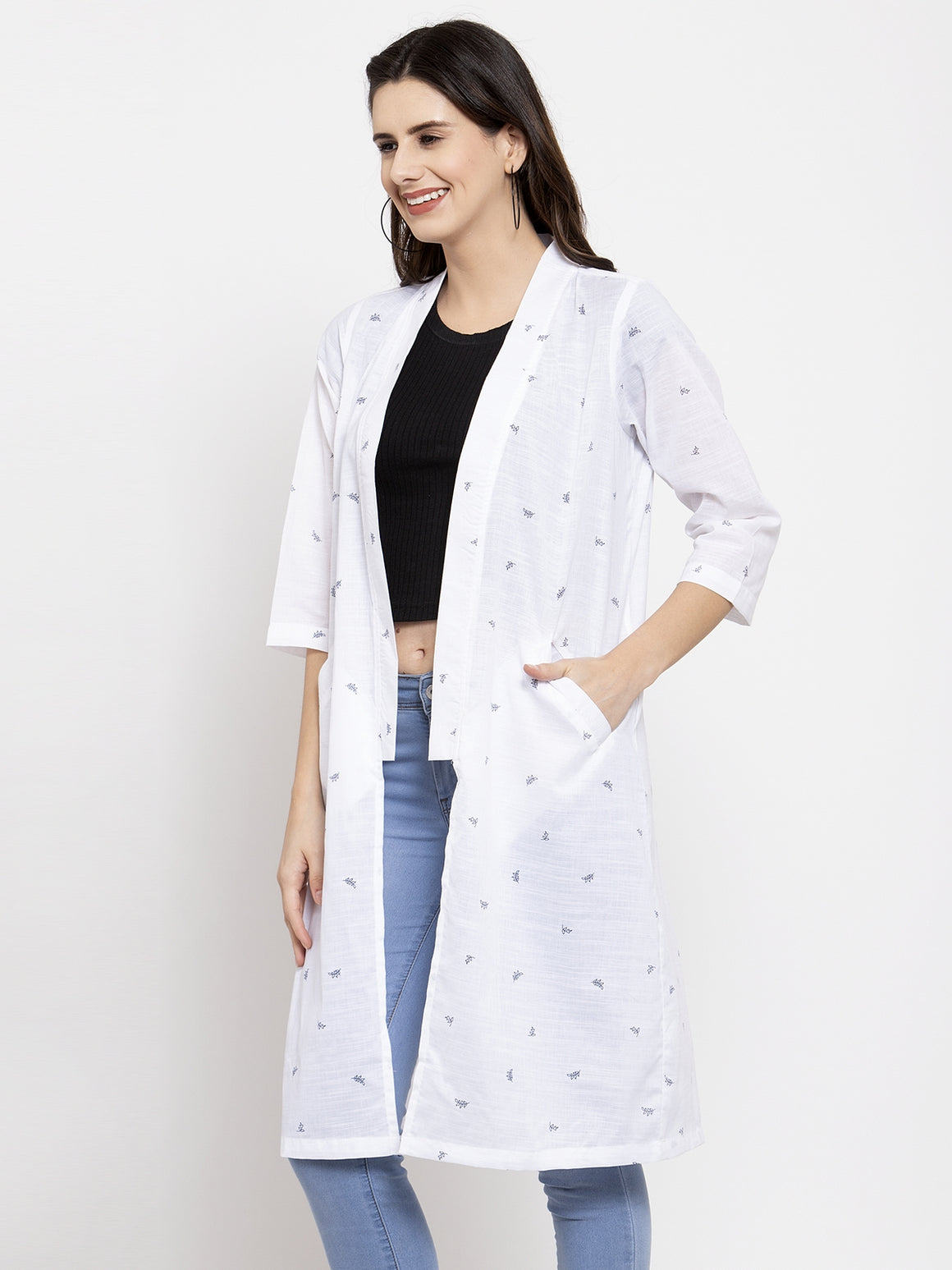 Ayaany Women White Casual Shrug
