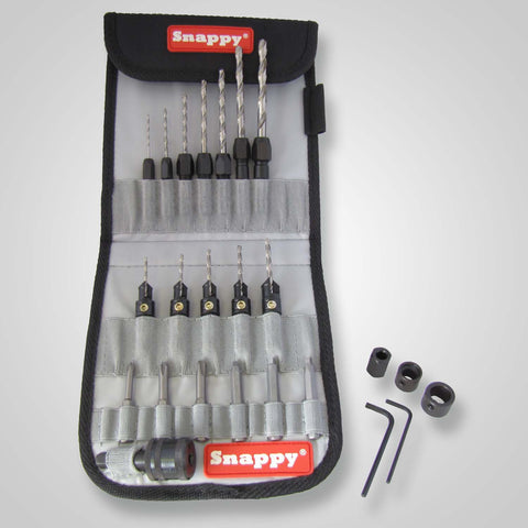 Snappy 48025 – 25 Piece C-Sink, Drill, Driver Bit Set in Canvas Pouch