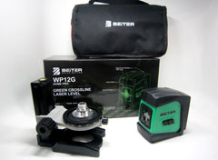 Beiter Laser WP12G  Green Crossline Laser Level w/ mag wall mount