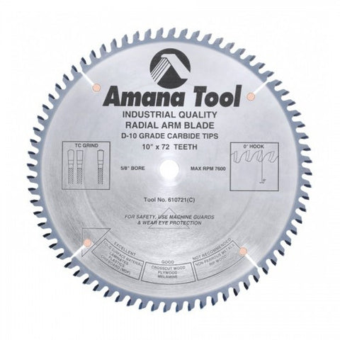 Amana Solid Surface 610721 Radial Arm Blade