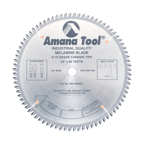 Amana Double-Sided Melamine MB10800 Blade