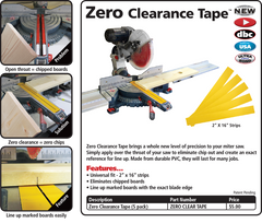 Zero Clearance Tape Insert for your chopsaw