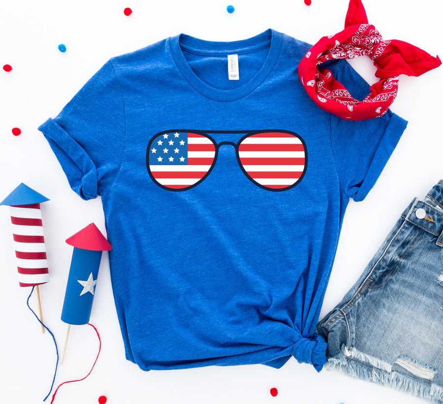 4th Of July Sunglasses T-shirt