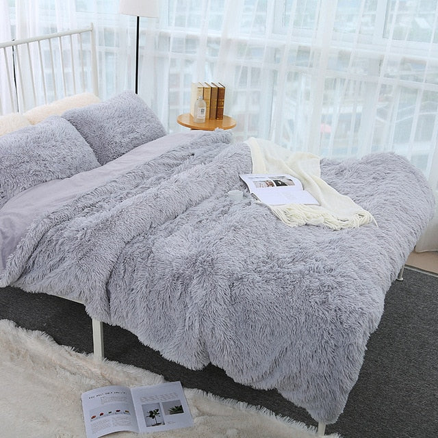 Luxurious Plush Faux Fur Bedding Sets