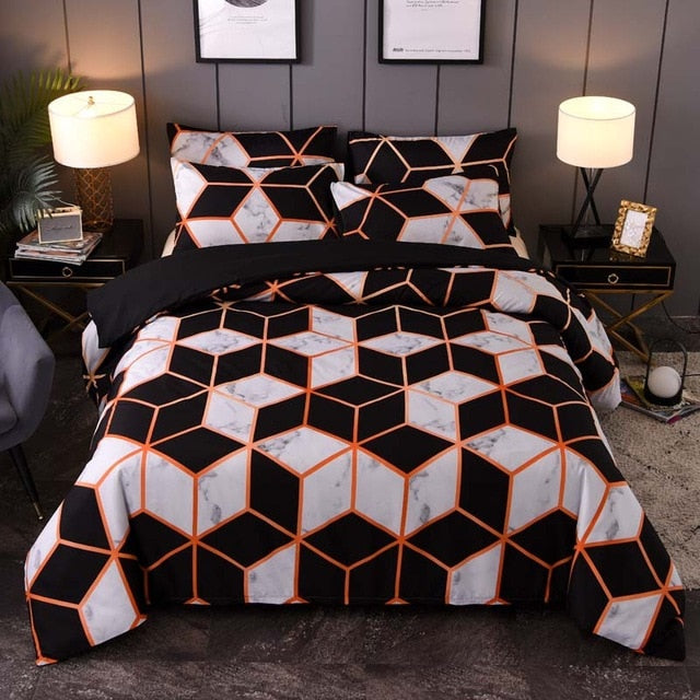 Marble Pattern Bed Linen Simple Duvet Cover Sets