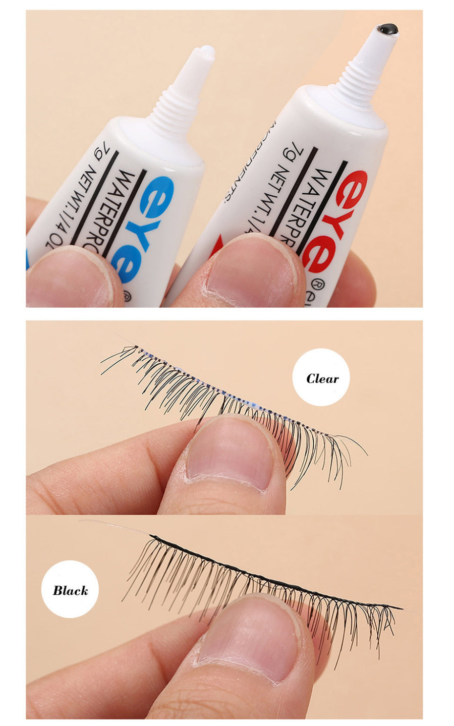 6 Pcs Waterproof Eyelash Glue