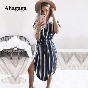 Ahagaga 2019 Spring Dress Women Fashion Print Elegant Cute Sashes O-neck Sexy Slim Sheath Dress Women Dresses Vestidos Robes
